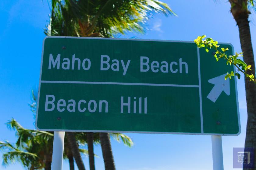 Maho Beach Marker